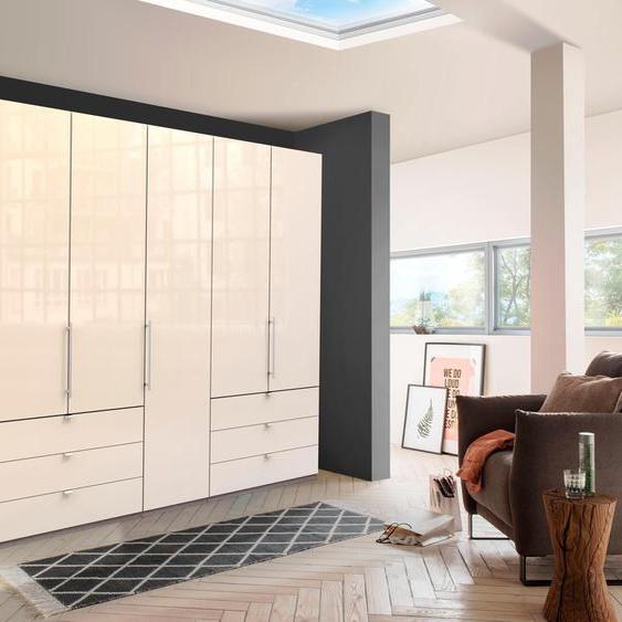 Falttürenschrank »Loft«, 250x216x58 cm (BxHxT), WIEMANN, mehrfarbig, Material Glas, Kunststoff, Metall