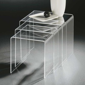 Dreisatztisch aus Acrylglas modern (3-teilig)