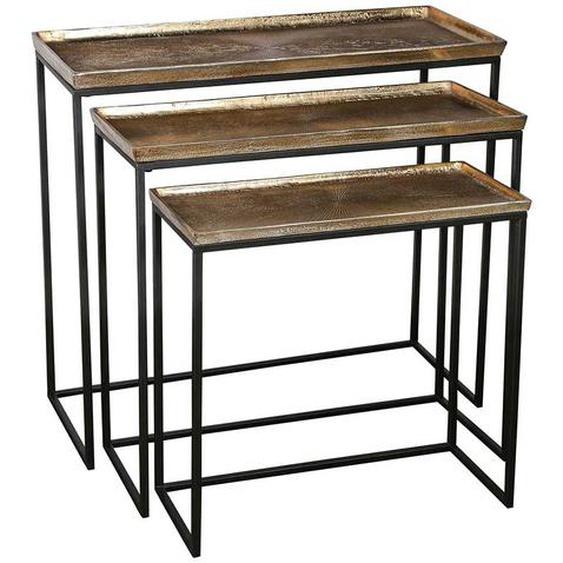 Dreisatztisch aus Aluminium und Eisen modern (3-teilig)