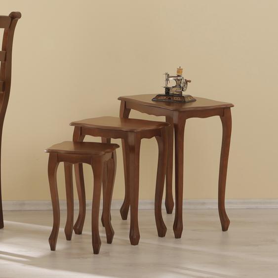 Dreisatztisch in Nussbaumfarben (3-teilig)