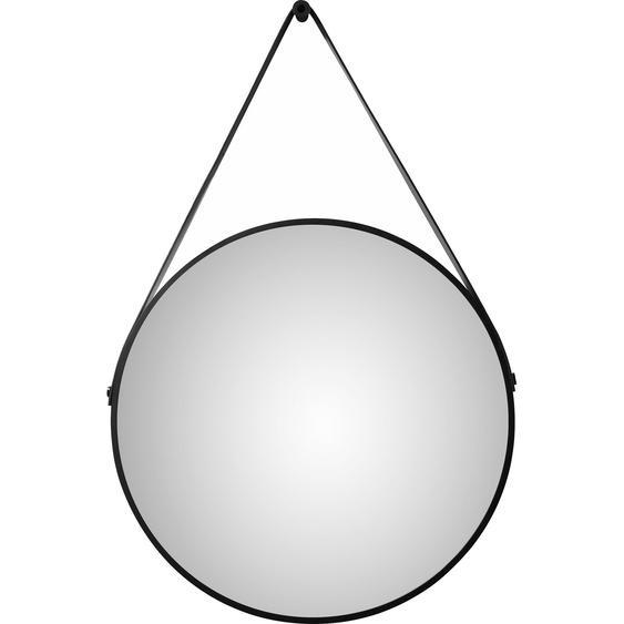 DSK Design LED-Lichtspiegel rund Silver Barbier Ø 50 cm Schwarz matt