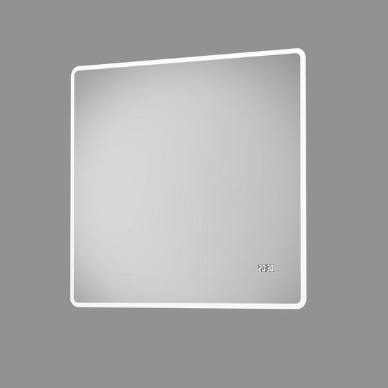 DSK Design LED-Lichtspiegel Silver Sintra 80 cm x 70 cm