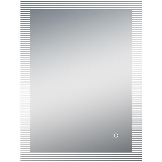 DSK Design LED-Lichtspiegel Silver Zebra 80 cm x 60 cm