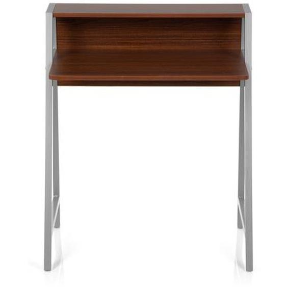 DUMONT | 78x50 5 - Schreibtisch Walnuss / Silber