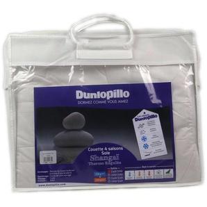 Dunlopillo COSOLS200200DPO-maison Bettbezug, 200 x 200 cm, Weiß