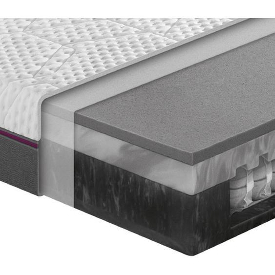 Dunlopillo Taschenfederkernmatratze Höhe ca. 25 cm , Weiß, Grau , Textil , 80x200 cm