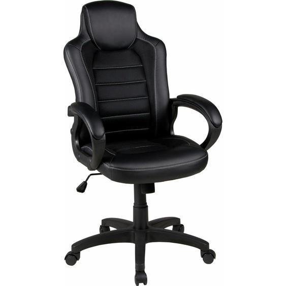 Duo Collection Chefsessel Joris, mit modernem Netzstoffbezug Einheitsgröße schwarz Gamingstühle Bürostühle Stühle Sitzbänke