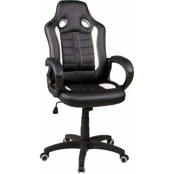 Duo Collection Gaming Chair Fabio, mit gepolsterten Armlehnen Einheitsgröße schwarz Gamingstühle Bürostühle Stühle Sitzbänke