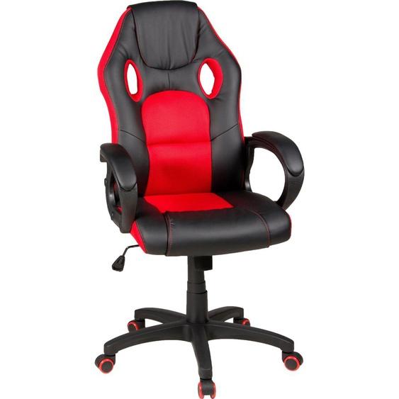Duo Collection Gaming Chair Riley Einheitsgröße rot Gamingstühle Bürostühle Stühle Sitzbänke