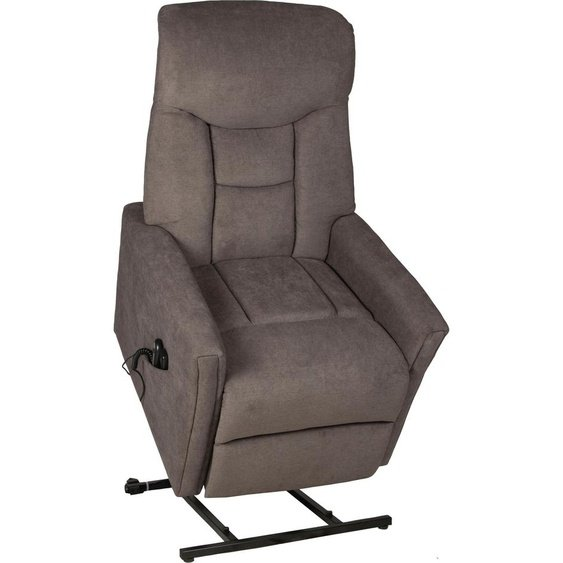 Duo Collection Massagesessel Cadillac Luxus-Microfaser / Polyester Stoff PALERMO, mit Relaxfunktion, Massagefunktion, Federkern grau Sessel