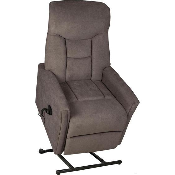 Duo Collection Massagesessel Cadillac Luxus-Microfaser-Polyester-Stoff PALERMO, mit Relaxfunktion-mit Massagefunktion-mit Federkern, Relaxfunktion-Höhenverstellung, B/H/T: 80 cm x 90 86 grau Sessel