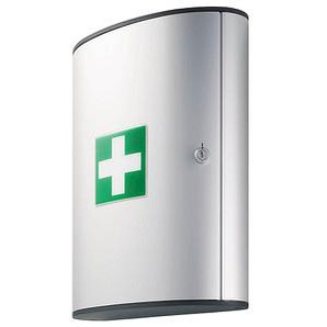 DURABLE Medizinschrank FIRST AID BOX L ohne Füllung silber