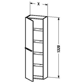 Duravit Hochschrank x-large 238x300x1320mm, cappuccino hochglanz, XL1150R8686