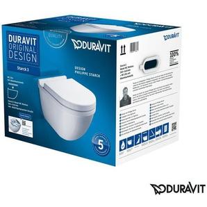 Geberit Duofix Vorwandelement mit Duravit Starck 3 WC spülrandlos mit Beschichtung, Komplett-Set