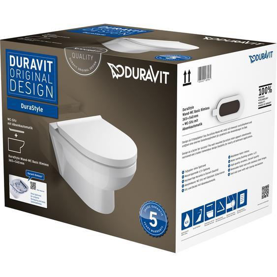 Duravit Wand-WC-Set Durastyle Basic spülrandlos weiß inkl. Sitz