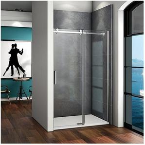 Duschabtrennung 115x195cm Schiebetür Duschkabine Duschwand Dusche Echtglas - AICA SANITAIRE