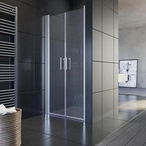 Dusche Nischenabtrennung Duschkabine Duschabtrennung Pendeltür 100x195 cm - Sonni