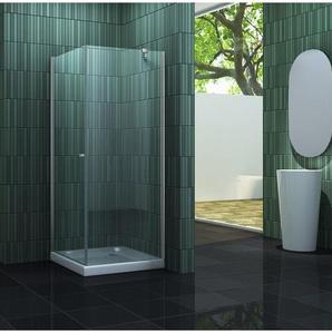 Duschkabine CASA-ONE 90 x 90 x 190 cm ohne Duschtasse - IMPEX-BAD