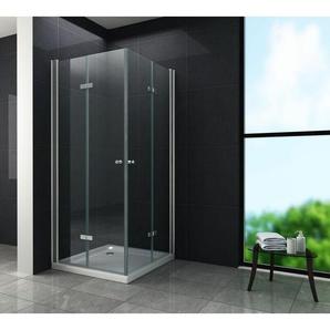 Duschkabine CLAP 100 x 80 x 200 cm inkl. Duschtasse - GLASDEALS