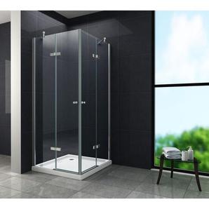 Duschkabine CORNO 90 x 75 x 180 cm ohne Duschtasse - GLASDEALS