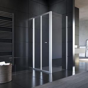 Duschkabine Duschabtrennung aus Einscheiben-Sicherheitsglas eckdusche 70x90 - Sonni