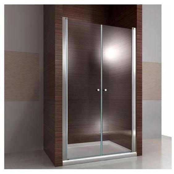 Duschkabine Duschabtrennung Nischentür Nano Echtglas EX218 - 195 cm Höhe - Breite wählbar100cm
