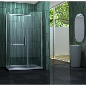 Duschkabine ENCO 100 x 80 x 195 cm ohne Duschtasse - IMPEX-BAD