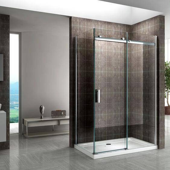 Duschkabine mit Schiebetüren NANO-ESG Klarglas DK06 160X80cm