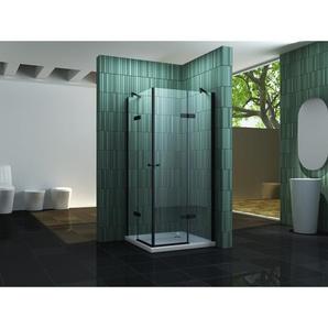 Duschkabine NEOTEC (schwarz) 90 x 75 x 195 cm ohne Duschtasse - IMPEX-BAD