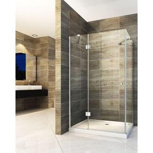 Duschkabine NORMA 120 x 80 x 190 cm ohne Duschtasse - IMPEX-BAD