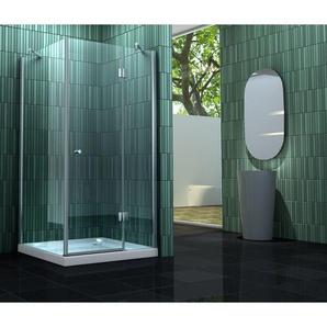 Duschkabine SILL 90 x 90 x 170 cm ohne Duschtasse - IMPEX-BAD