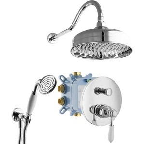 Duschsystem Retro Duschkopf Unterputz Armatur Box Handbrause Chrom - PAULGURKES