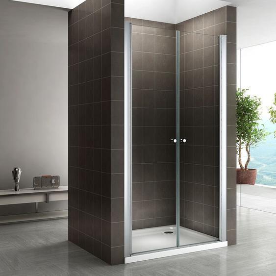 Duschtür Nischentür Klarglas 180cm hoch 96-100cm - I-FLAIR