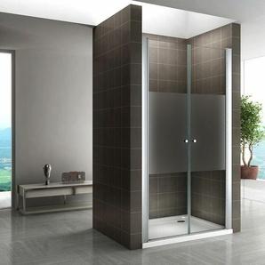 Duschtür Nischentür Mittelsatiniert 195cm hoch 96-100 cm - I-FLAIR