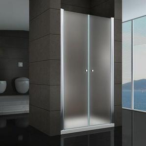 Duschtür Pendeltür Nischentür Duschabtrennung Schwingtür Dusche Satiniert 128-132 cm 195cm Höhe - I-FLAIR