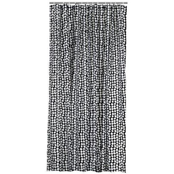 Duschvorhang, 180 X 200 Cm, Textil, Schwarz-weiß