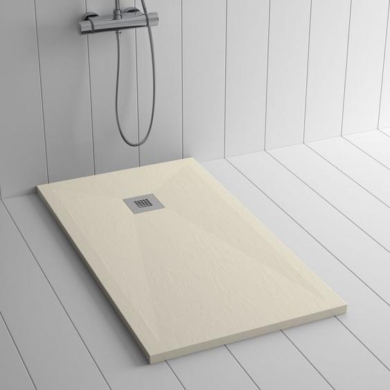 Duschwanne Kunstharz PLES Crème - 120x70 cm - SHOWER ONLINE