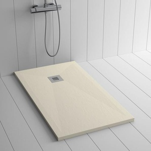 Duschwanne Kunstharz PLES Crème - 120x90 cm - SHOWER ONLINE