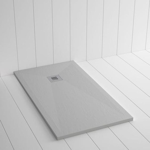 Duschwanne Kunstharz PLES Zement Grau - 190x100 cm - SHOWER ONLINE