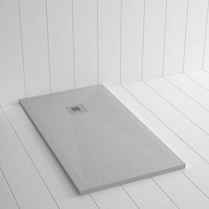Duschwanne Kunstharz PLES Zement Grau - 200x100 cm - SHOWER ONLINE