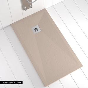 Duschwanne Kunstharz PLES Sandstein (NCS S 3005-Y50R) - 210x100 cm - SHOWER ONLINE