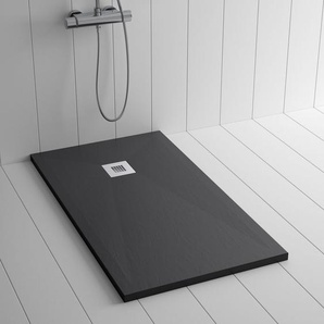 Duschwanne Kunstharz PLES Schwarz- 130x100 cm - SHOWER ONLINE