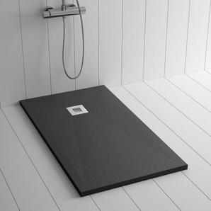 Duschwanne Kunstharz PLES Schwarz- 160x100 cm - SHOWER ONLINE