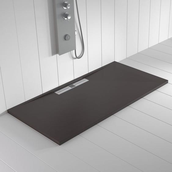 Duschwanne Kunstharz WIDE Schokolade - 110x70 cm - SHOWER ONLINE