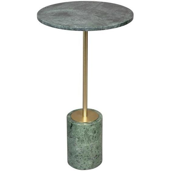 Dutchbone Beistelltisch rund Mehrfarbig , Metall, Stein , 37.5x65 cm