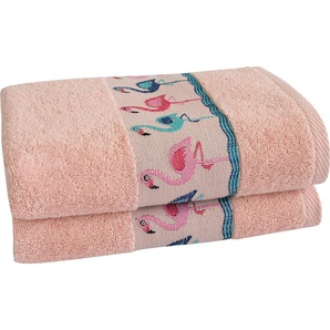 Handtücher »Flamingos«, Dyckhoff, mit Flamingo Bordüre
