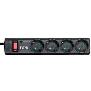 EATON Protection Strip 4 DIN 4-fach Steckdosenleiste mit Überspannungsschutz schwarz