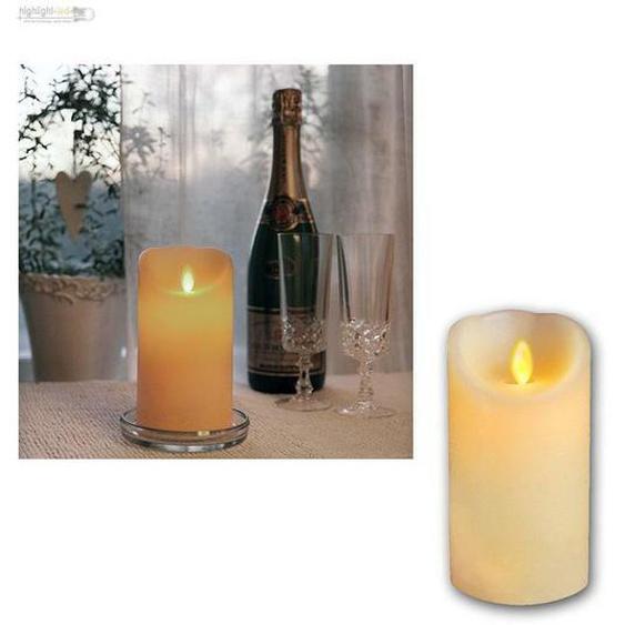 Echtwachs Kerze Mit Bewegter Led Flamme Wachs Kerzen Candle Flammenlos
