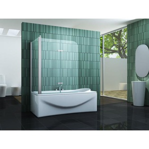 Eck-Duschtrennwand PERINTO 75 (Badewanne) - IMPEX-BAD