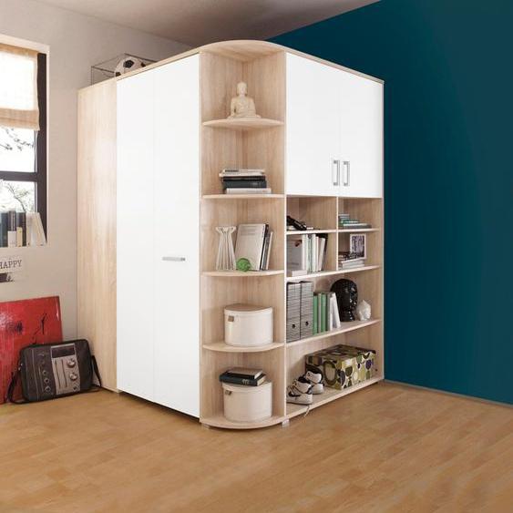 Eck-Kleiderschrank  begehbar »Corner«, , beige, Material Metall, Kunststoff